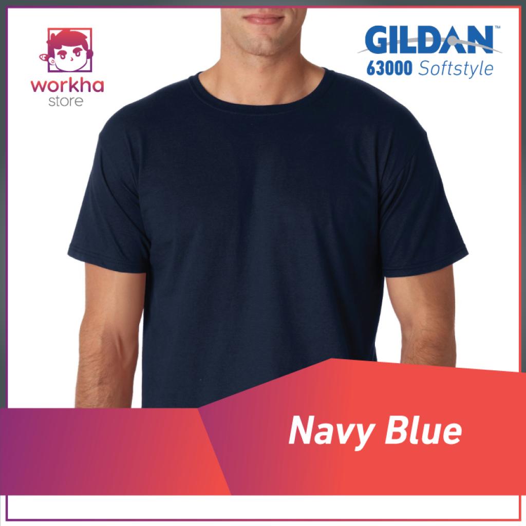 Kaos Polos Gildan Import Original. gildan-navy- ...